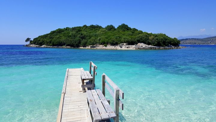 Ksamil, on the Albanian riviera.