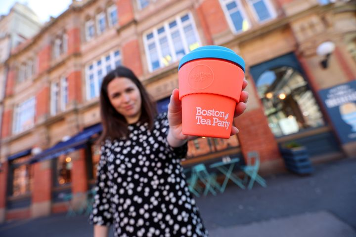 Boston Tea Party: You can buy or loan a takeaway cup