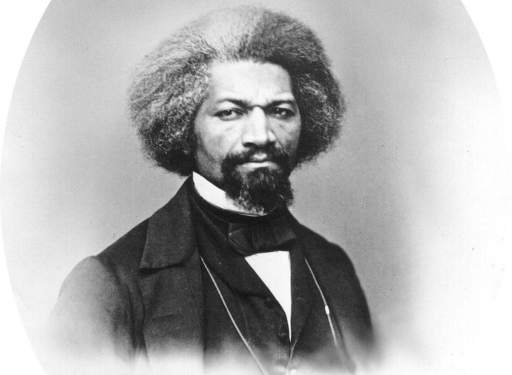 Frederick Douglass, an African-American who was one of the most eminent human rights leaders of the 19th century.