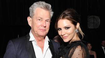 WEST HOLLYWOOD, CA - MARCH 04:  David Foster (L) and Katharine McPhee attend the 26th annual Elton John AIDS Foundation Academy Awards Viewing Party at The City of West Hollywood Park on March 4, 2018 in West Hollywood, California.  (Photo by John Sciulli/Getty Images for Perry Ellis)