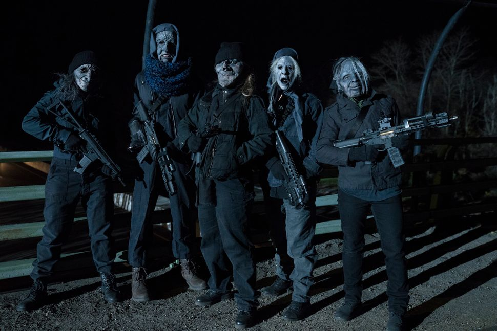 Some of the women of vigilante group Jennifer.