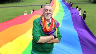 Creator of Iconic Rainbow Flag in Ireland for�An Evening of ABSOLUT Pride�...21.06.2011..Merrion Square Park,Dublin...