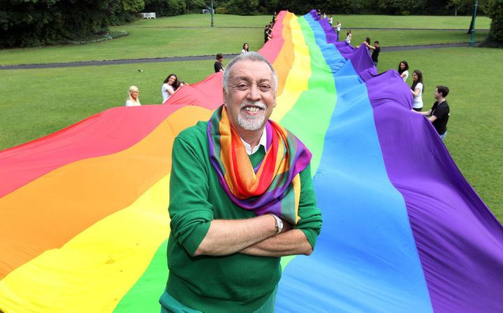 Gilbert Baker, who died in 2017, created the original rainbow flag at the request of Harvey Milk.