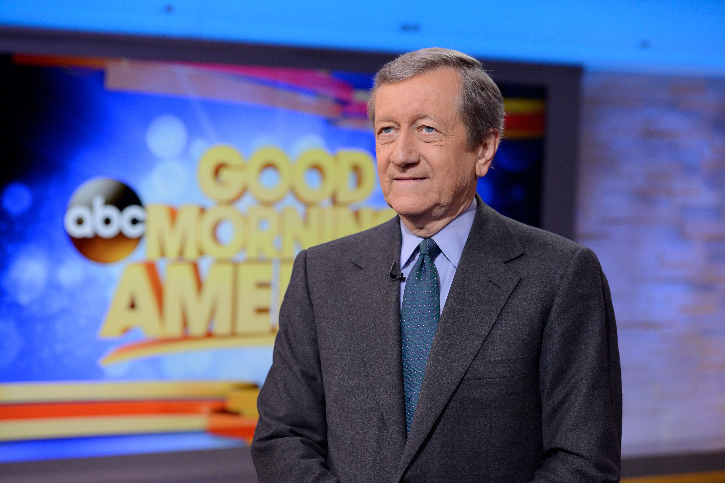GOOD MORNING AMERICA - Brian Ross on 'Good Morning America,' 1/12/15, airing on the ABC Television Network. (Photo by Lorenzo Bevilaqua/ABC via Getty Images)