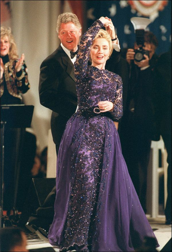 """Hillary Clinton may be known for her power suits and <a href=""""https://www.harpersbazaar.com/culture/features/g4396/hillary-cl"""