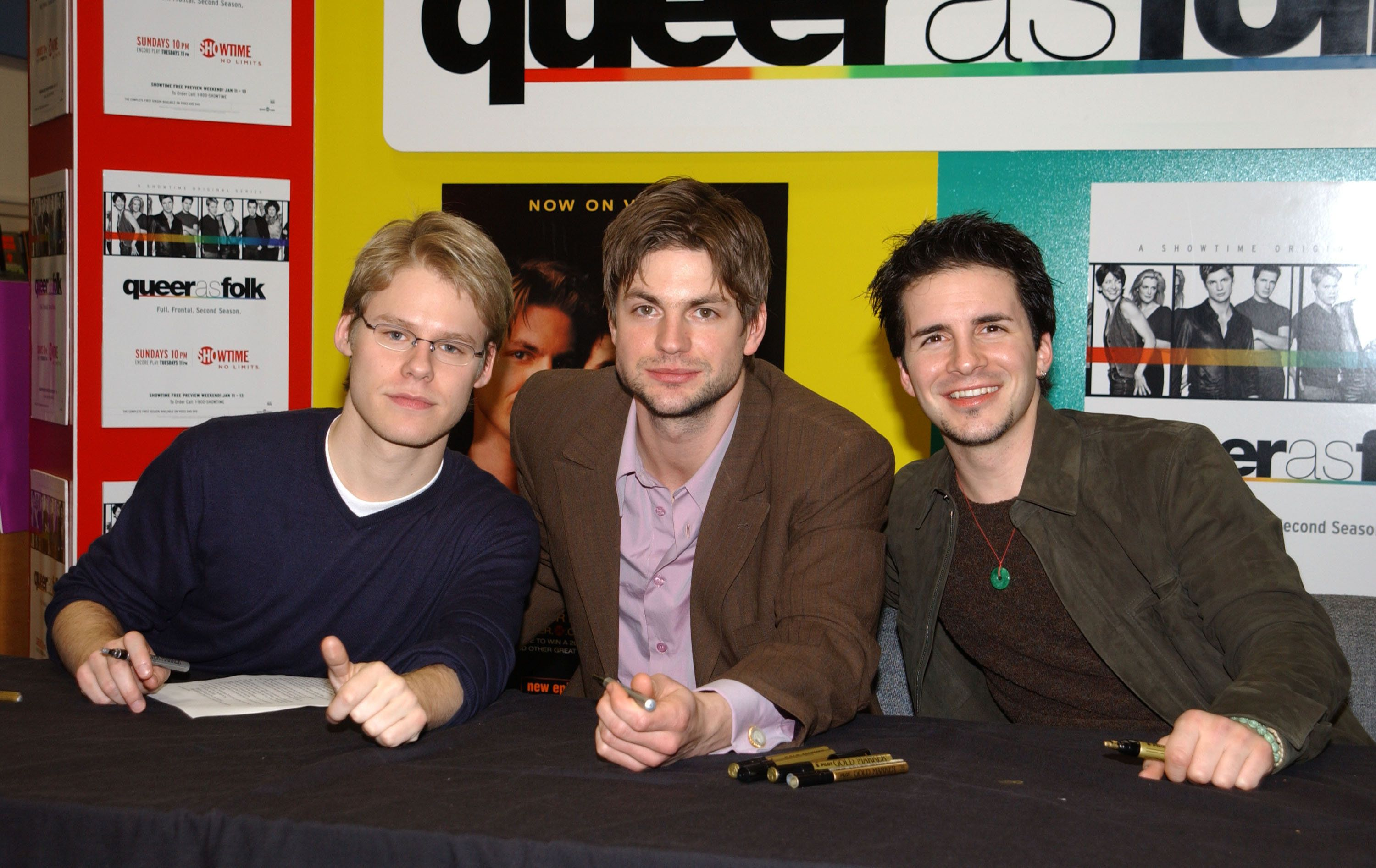 Randy Harrison, Gale Harold and Hal Sparks (Photo by Kevin Mazur/WireImage)