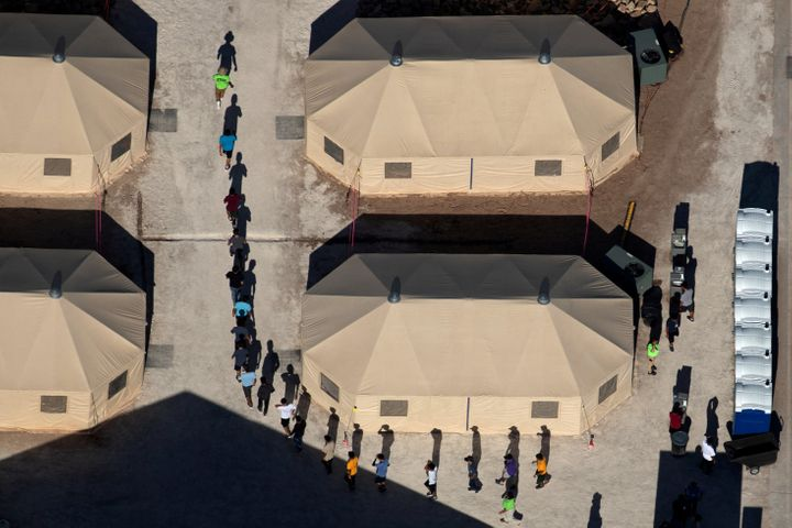 Immigrant children at a detention facility in Tornillo, Texas, near the U.S.-Mexico border, June 18. Thousands of children ha