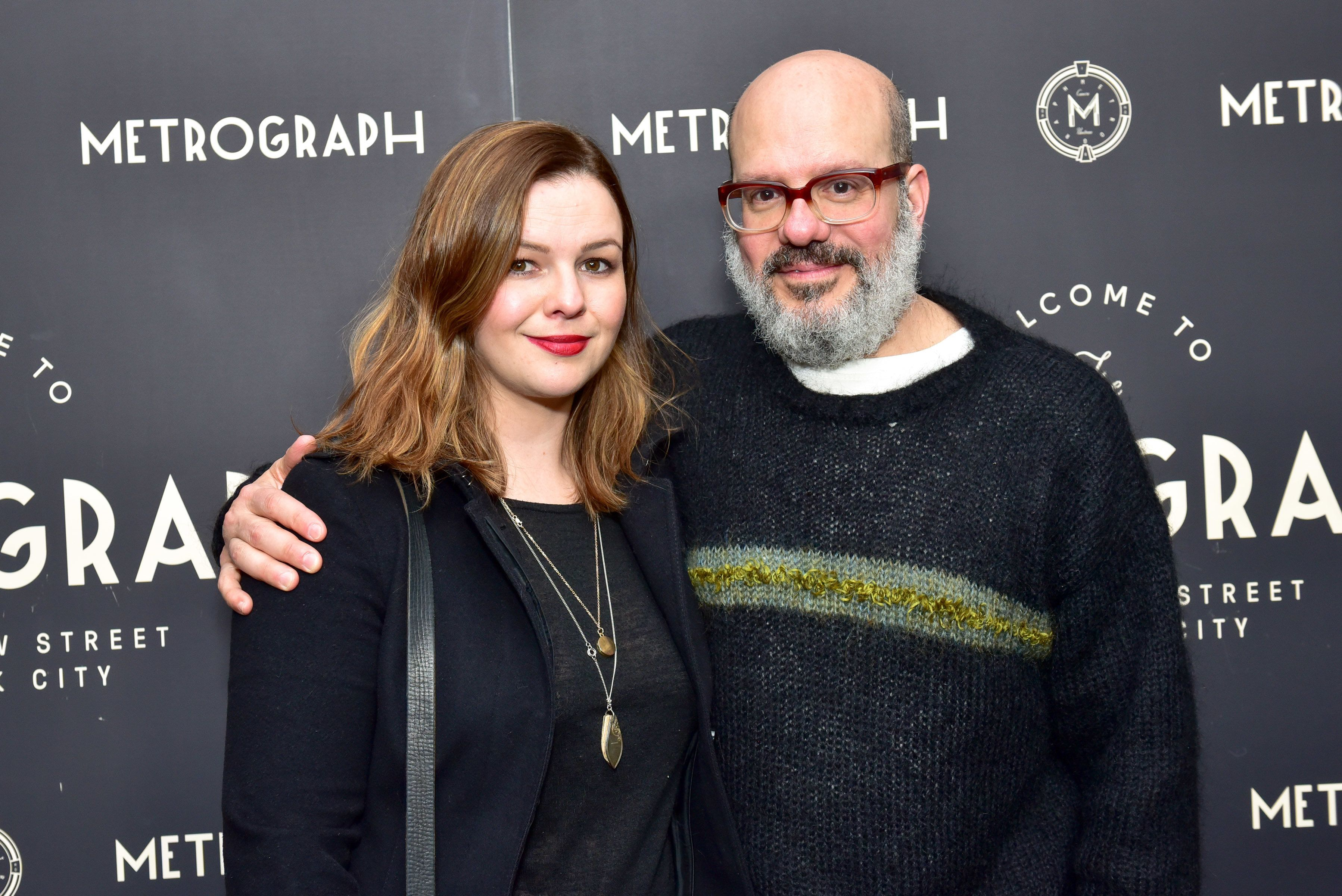 Actress Amber Tamblyn and husband David Cross at a March 22 party in New York City.