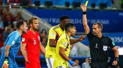 잉글랜드와 콜롬비아의 경기는 '옐로우