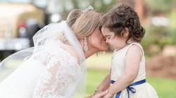 3살 소아암 생존자가 골수를 기증한 여성의 결혼식에서 화동을
