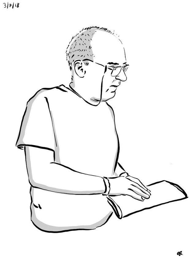 (Above) Illustration of stroke awareness speaker Martin Warrillow byAndrew