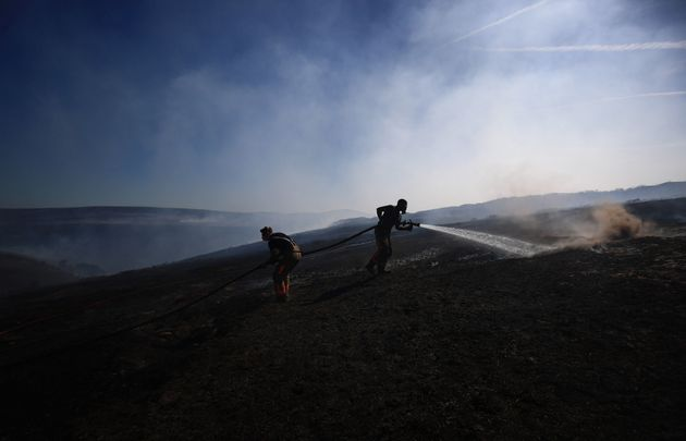 Seven square miles of land between Tameside and Oldham has gone up in flames since the fire broke