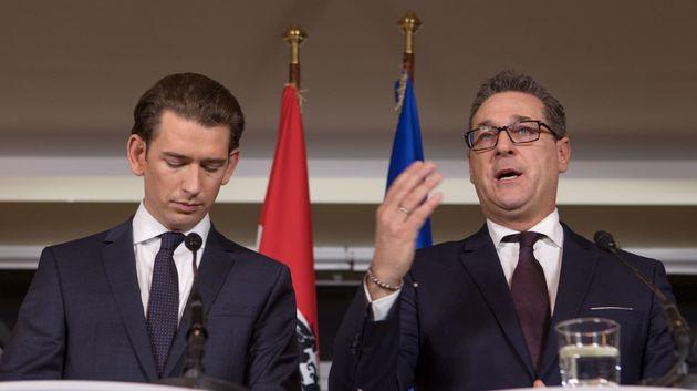 Sebastian Kurz (links) und Heinz-Christian