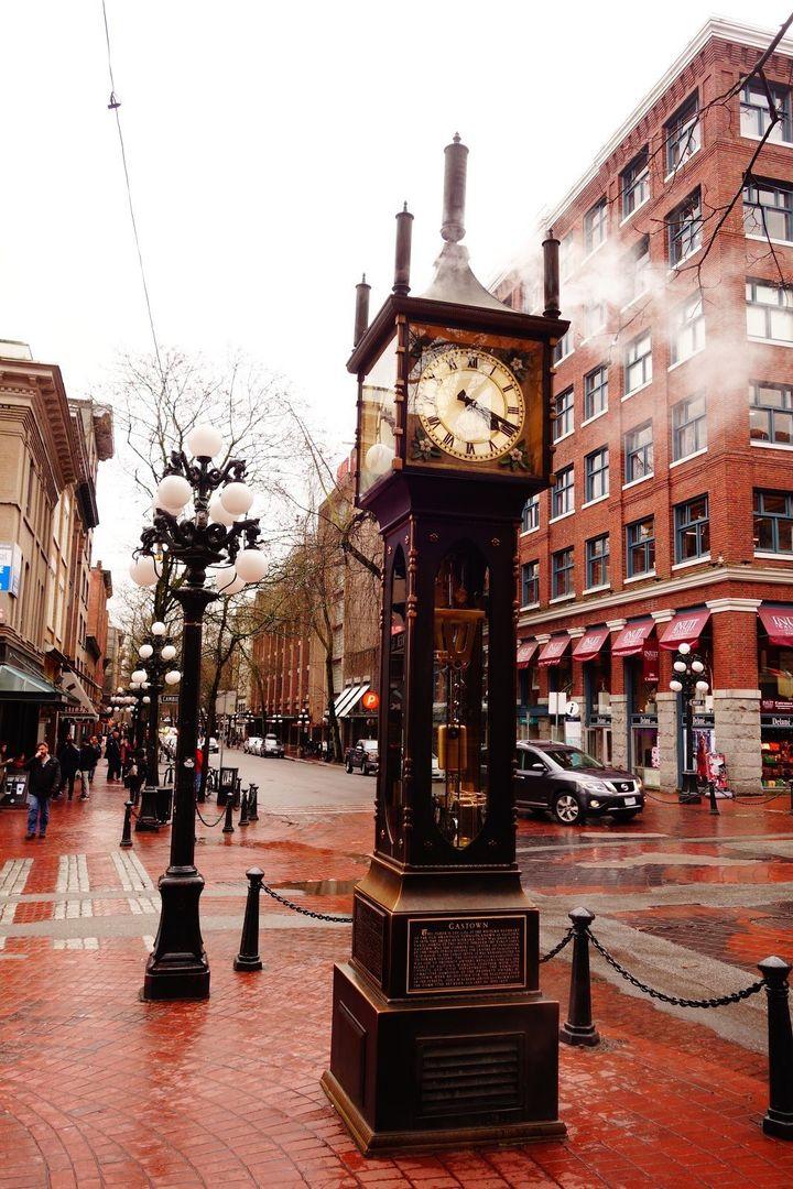 밴쿠버의 명소 개스타운(Gastown) 증기시계