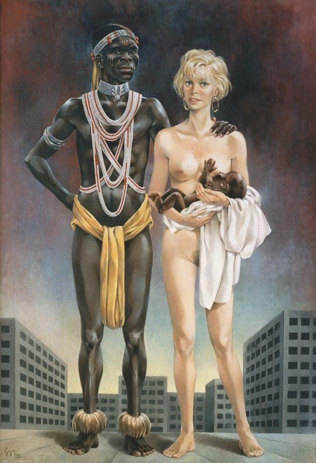 Ο «μαύρος Ευρωπαίος» διαφθείρει την «λευκή» μητέρα πατρίδα. Παράνοια και ρατσισμός σε ανάρτηση σοσιαλιστικού...