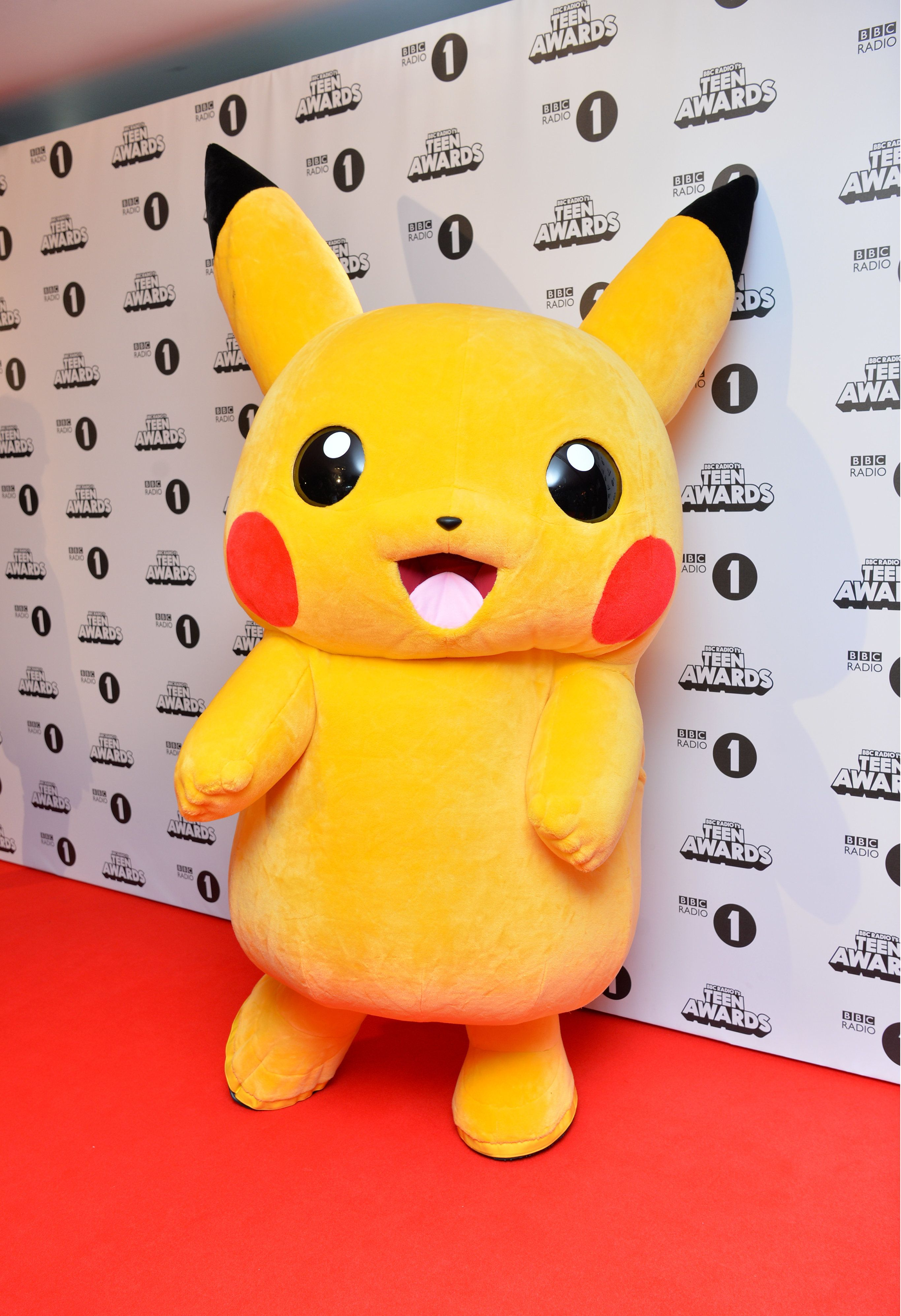 Pikachu attending the BBC Radio 1 Teen Awards, held at the SSE Wembley Arena in London. See PA Story SHOWBIZ Teen.