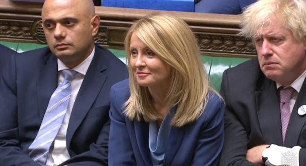 Work and Pensions Secretary Esther McVey in the House of