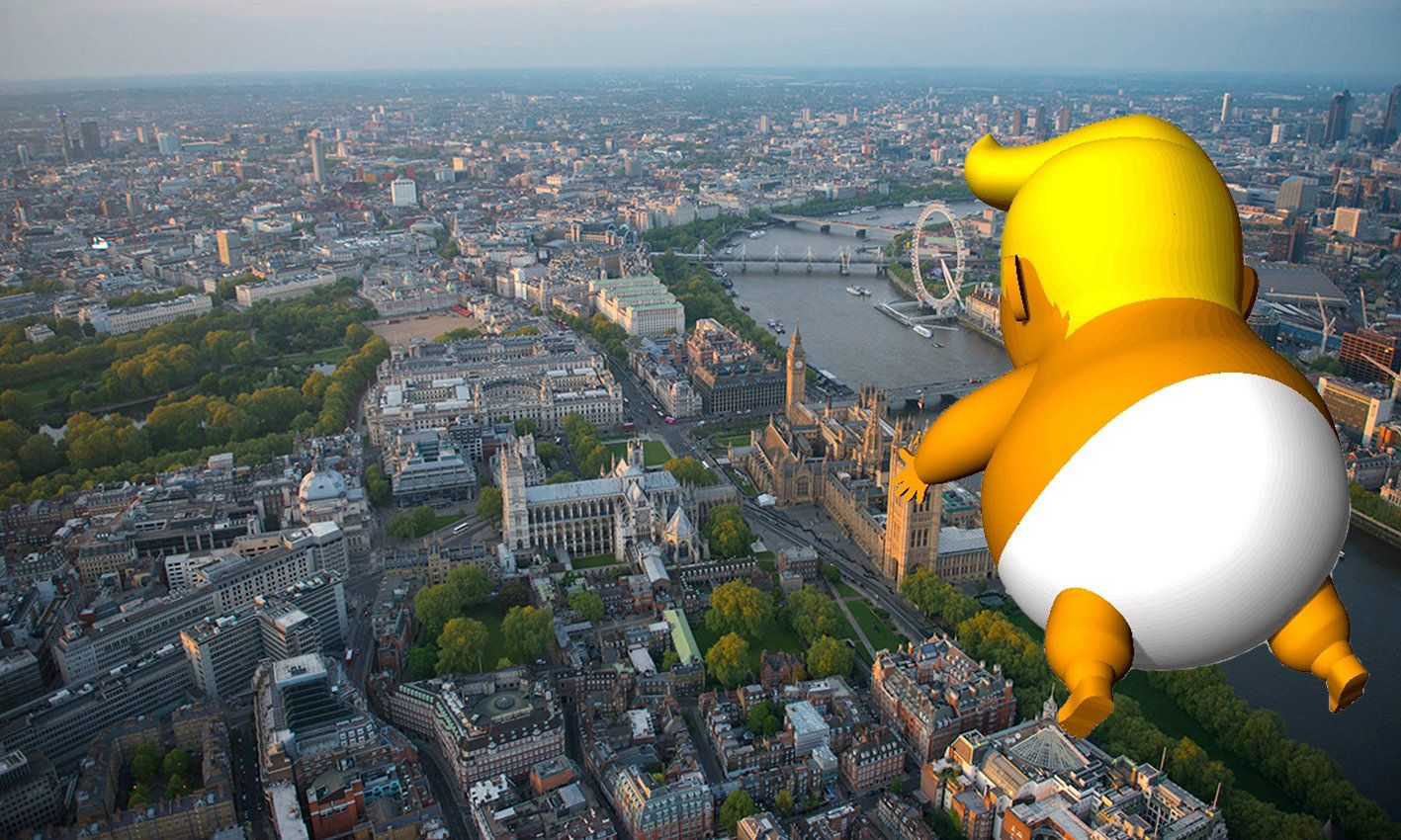 The Giant Nappy-Clad Donald Trump Baby Blimp Will Fly Over London Next