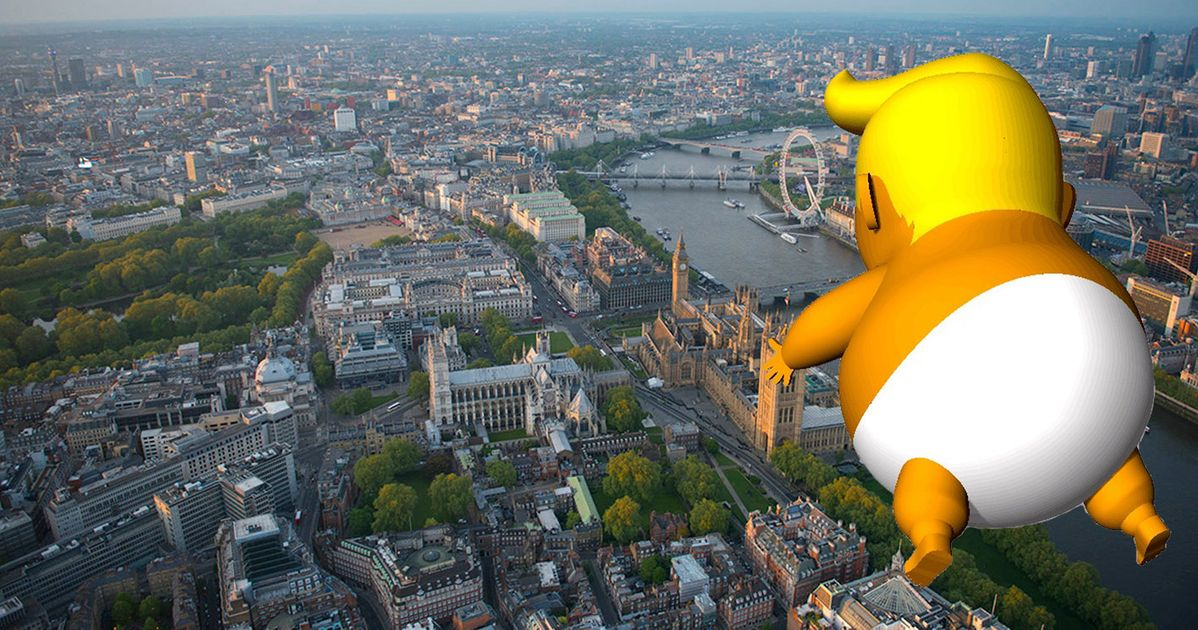 The Giant Ny Clad Donald Trump Baby Blimp Will Fly Over London Next Week Huffpost Uk