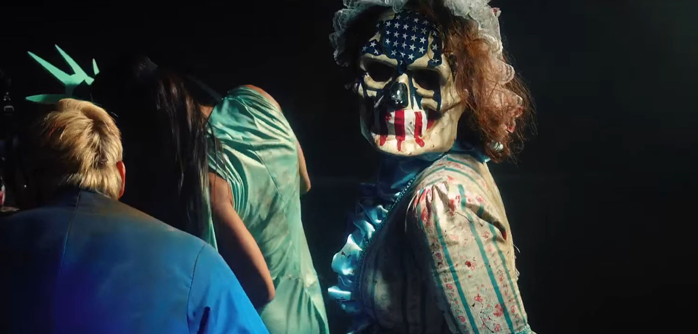 "Screenshot from the ""Purge: Election Year"" trailer."