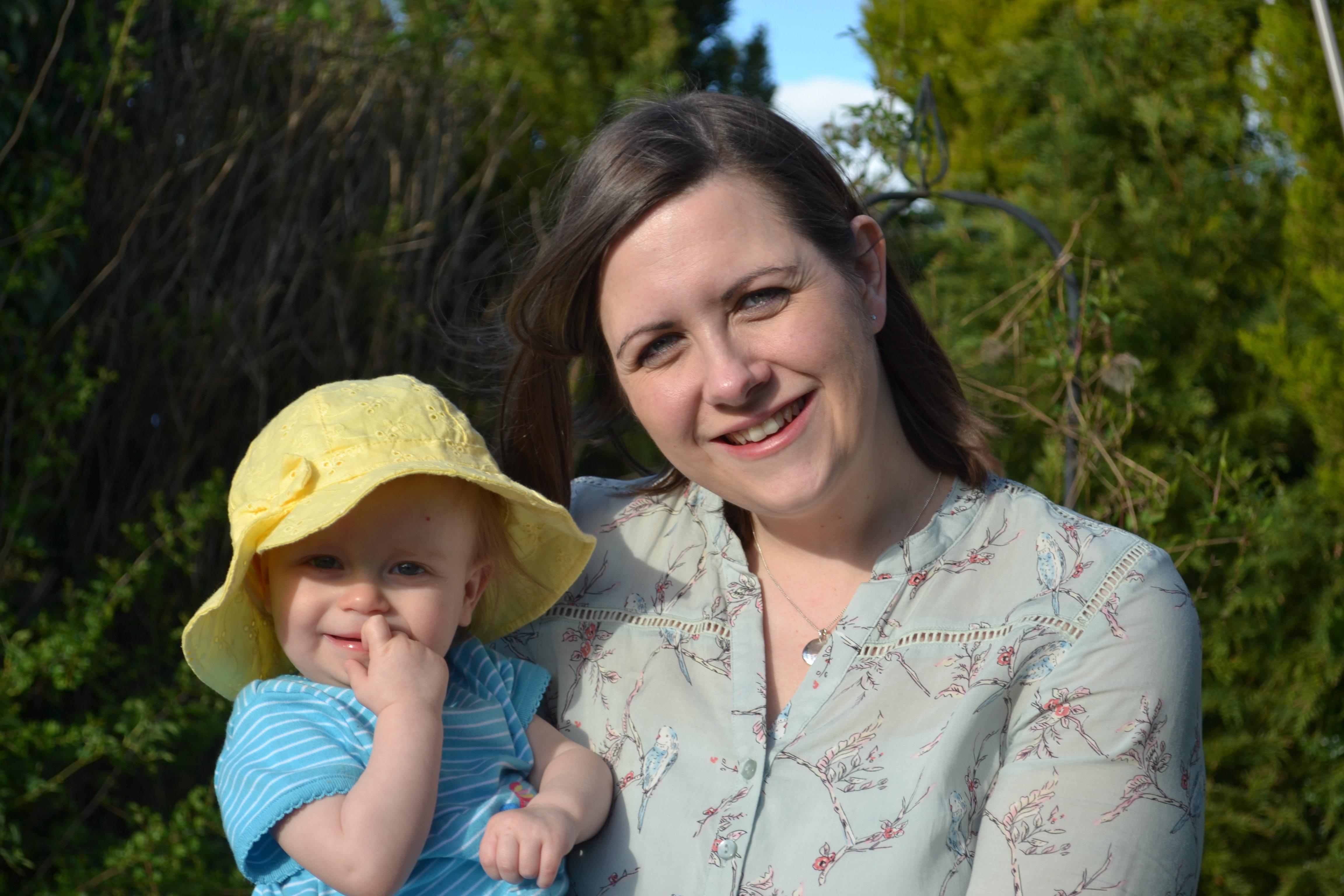 Sarah McHugh and her daughter