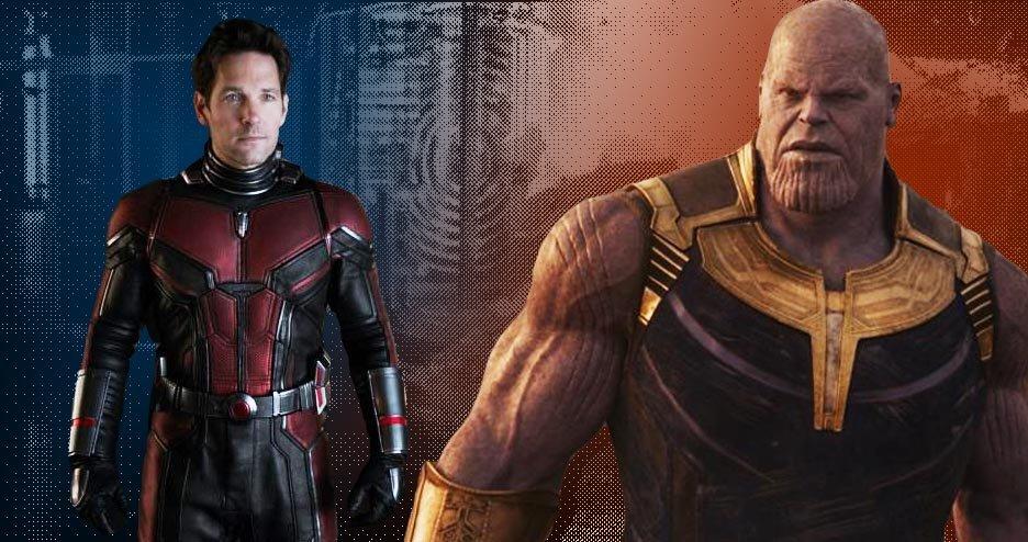 Ant-Man possibly thinking 'bout kicking Thanos'