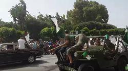Parade populaire à l'occasion de la fête de l'indépendance à travers les rues
