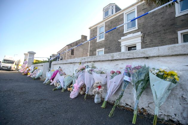 Floral tributes left after the discovery of Alesha's body