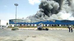 Mohammedia: gigantesque incendie dans un dépôt de stockage de produits