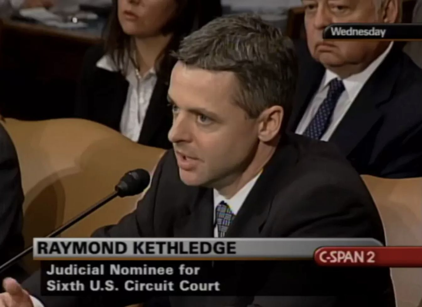Raymond Kethledge at his Senate confirmation hearing in 2008