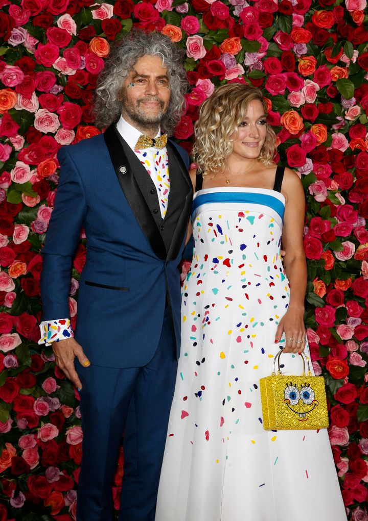 Coyne and his partner, Katy Weaver, walk the red carpet at the Tony Awards in June 2018.