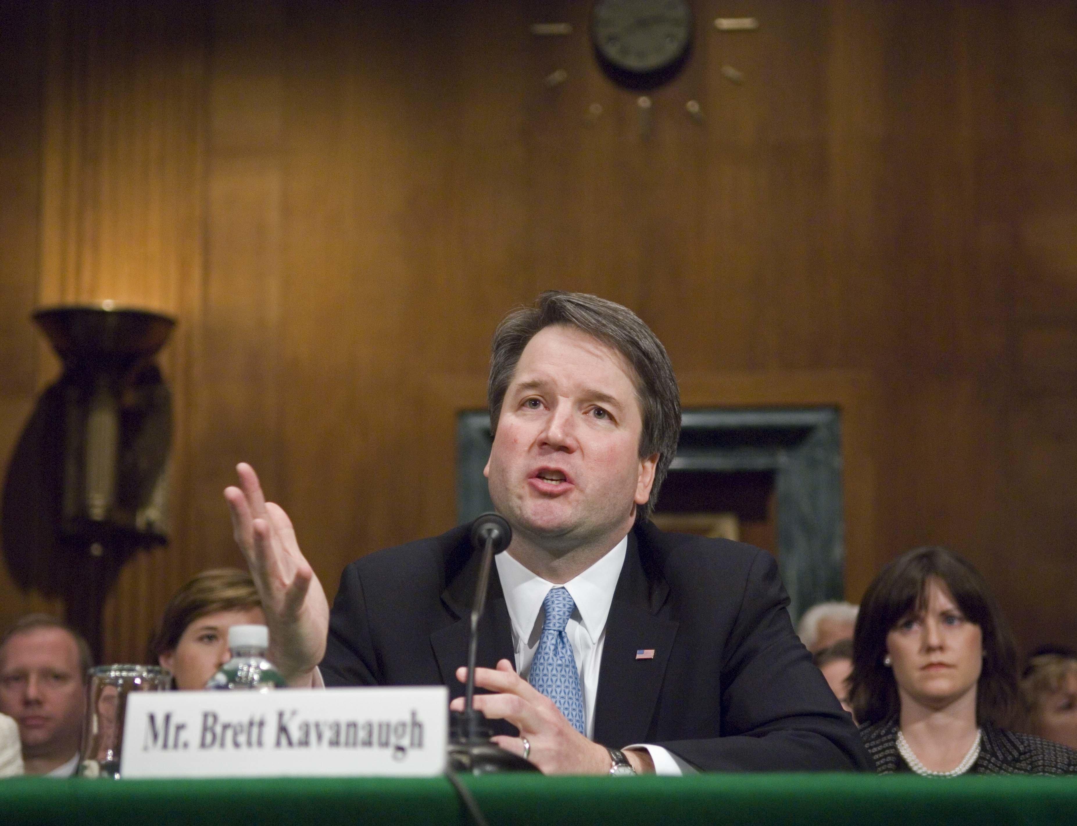 La última vez que Brett Kavanaugh compareció ante la Comisión Judicial del Senado para una audiencia...