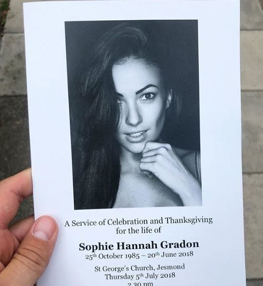 Former 'Love Island' Contestant Sophie Gradon's Funeral Takes Place