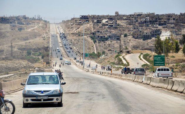 L'autoroute principale entre Homs et Hama, le 6 juin