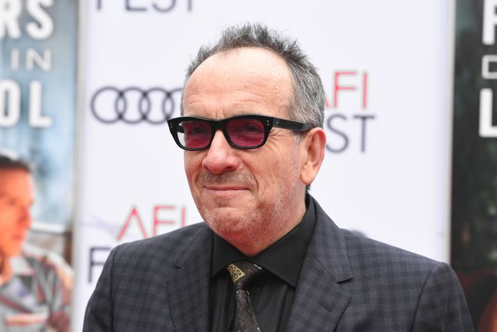Elvis Costello pictured at a film screening in 2017.