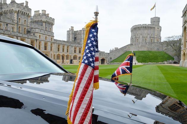Windsor Castle, where President Trump will meet Queen Elizabeth II next