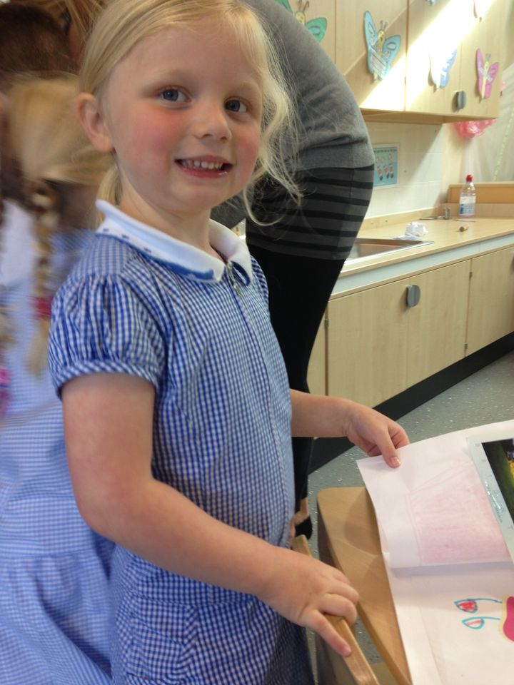 Recently, Amelia Lavelle, saw a volcano erupt in the school playground, butshe wasn't going to entertain her mum with that story.