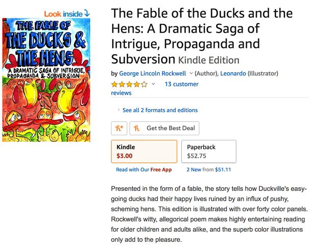 The description of this children's book doesn't mention that the author created the American...
