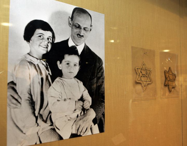 Otto Frank with his daughters Anne (center) and Margaret. According to a report from the Anne Frank House and the U