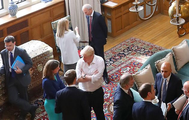Boris Johnson among Cabinet ministers during the talks at Chequers