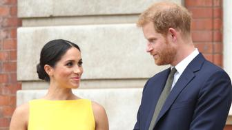 Meghan Duchess of Sussex is a fan of boat-neck necklines