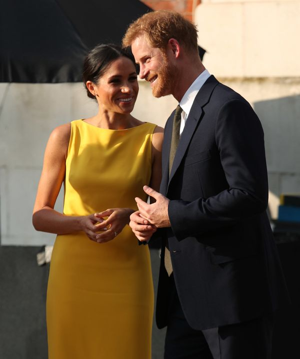 "The Duke and Duchess of Sussex attend the ""Your Commonwealth"" Youth Challenge reception at Marlborough House on July 5 in Lon"