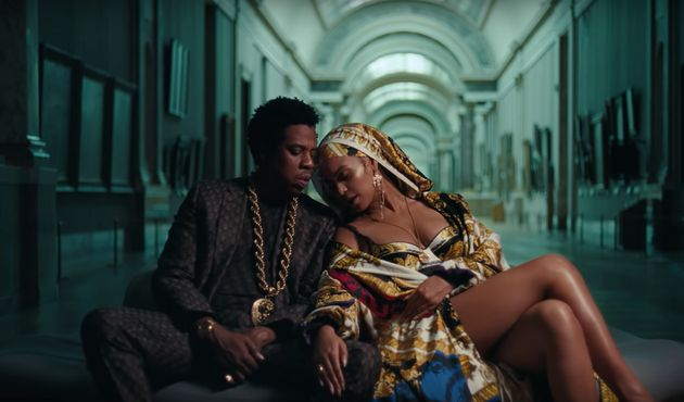 Jay-Z and Beyoncé in the 'APESHIT' music