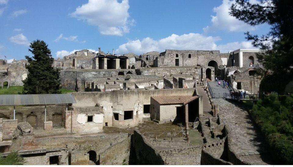 Γενική άποψη της Πομπηίας...
