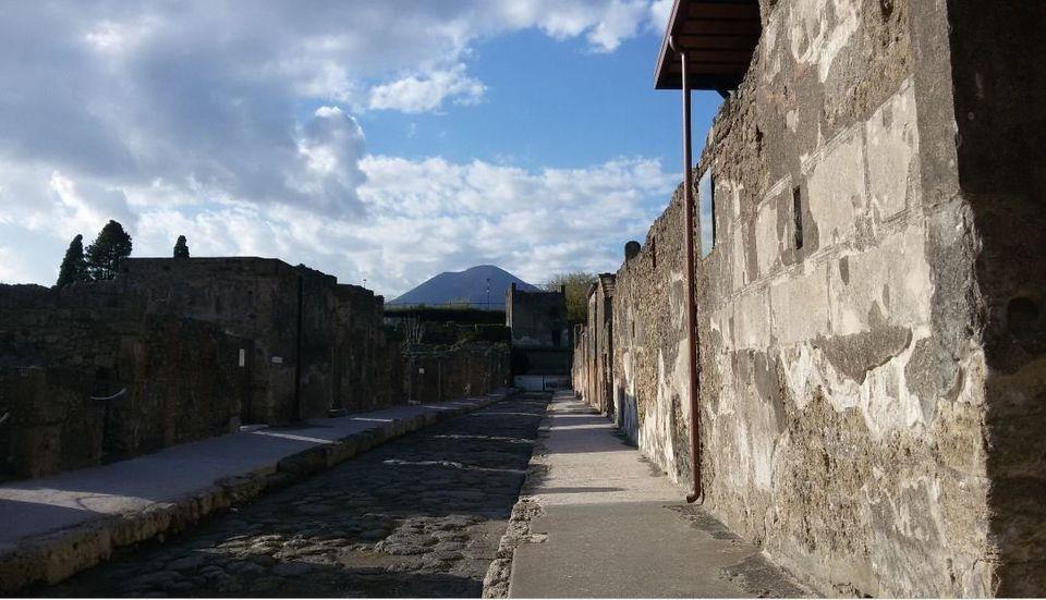 Κεντρική οδό της Πομπηίας....