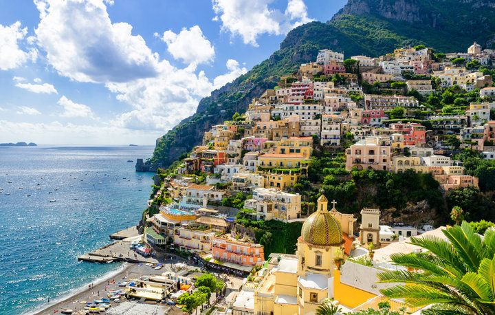 이탈리아 아말피 해안의 포시타노