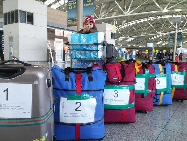 2015년 3월 캐나다로 떠나기 전 인천공항에서 찍은