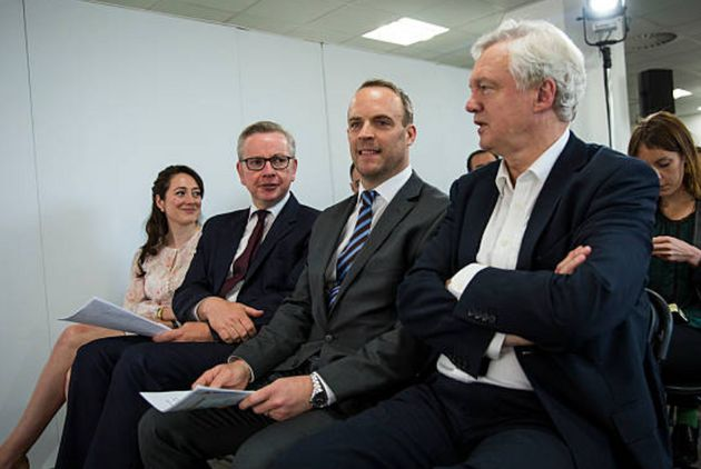 Michael Gove, Dominic Raab and David Davis during the EU