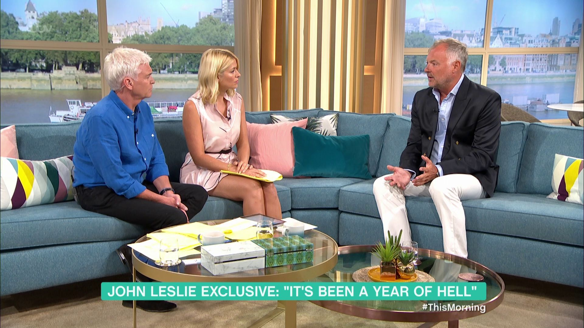 John Leslie 'In Bits' As He Returns To 'This Morning' After Sexual Misconduct