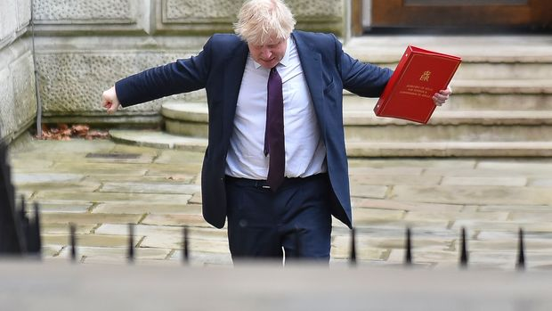 Britain's Foreign Secretary Boris Johnson arrives at Downing Street to attend the weekly Cabinet Meeting, London on March 20, 2018. Britain and the European Union on March 19 reached a landmark deal on a transition phase that will see London follow the bloc's rules for nearly two years after the Brexit divorce. Chief EU negotiator Michel Barnier and his British counterpart David Davis said the agreement, which European leaders will sign at a summit this week, was a 'decisive step'. (Photo by Alberto Pezzali/NurPhoto via Getty Images)